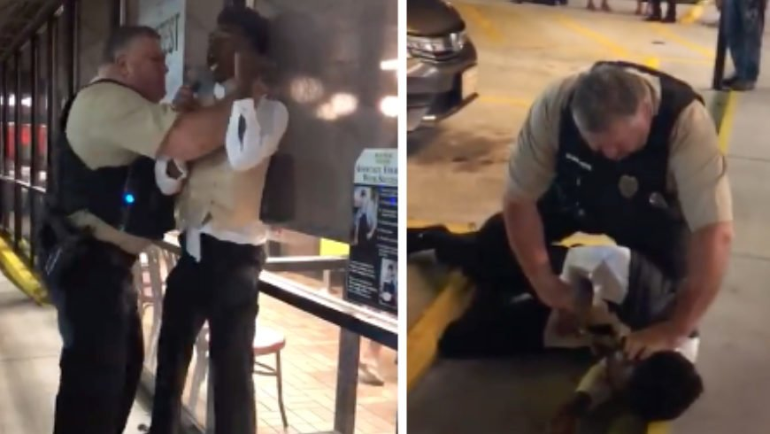 Video shows police choking black man in tuxedo at Waffle House