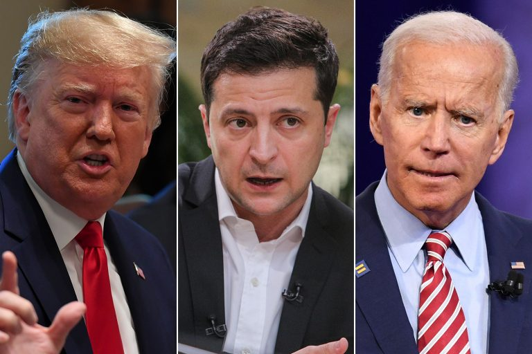 The president of Ukraine denies that there was an exchange of favors with Trump to investigate Biden