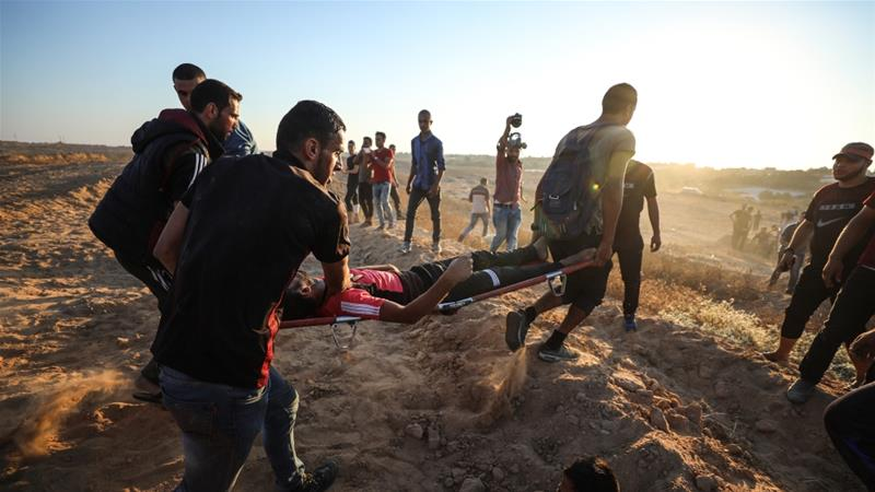 A Palestinian teenager killed and five wounded by Israeli Army shots on the Gaza fence