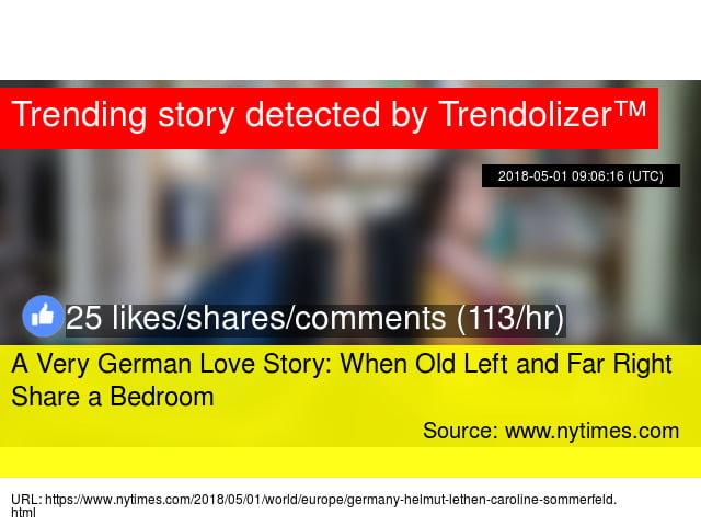 A Very German Love Story: When Old Left and Far Right Share a Bedroom