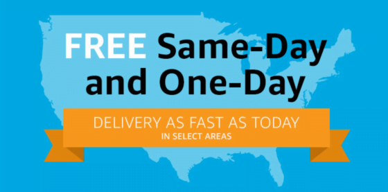 Amazon offers same-day delivery to select cities