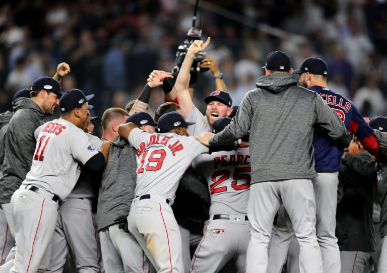 Angels rally to sweep Red Sox, reach ALCS