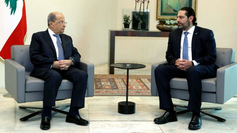 Aoun asks Hariri to continue acting until the creation of a new government in Lebanon