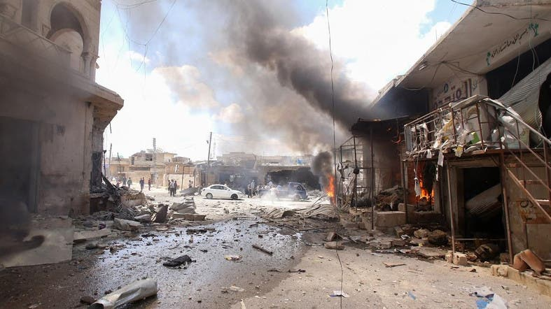 At least eight killed by a car bomb in a market in northwestern Syria