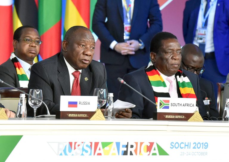 Big Protests in South Africa Force Ramaphosa to End London Visit