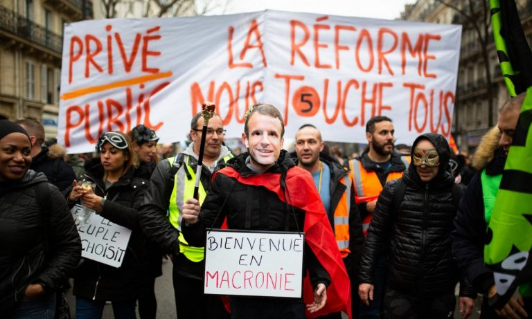 Clashes in Paris in a new day of mobilizations against pension reform