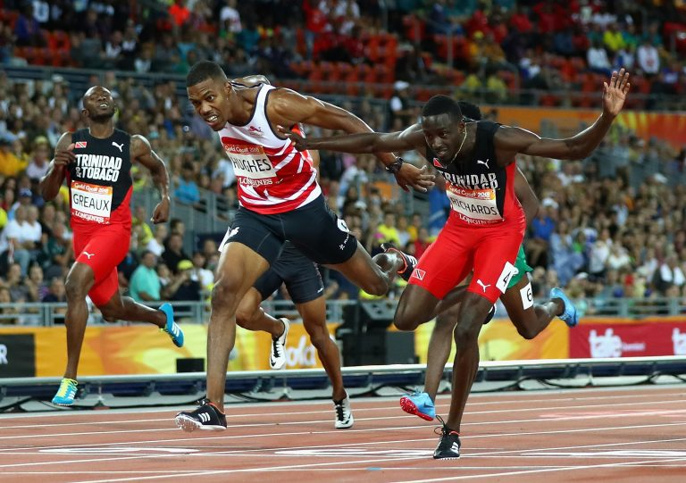 Commonwealth Games: England's Zharnel Hughes disqualified after winning men's 200m gold