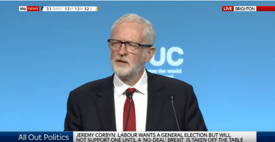 Corbyn supports the electoral advance after fulfilling its demand that there will be no Brexit without agreement
