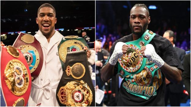 Deontay Wilder 'ready to come to UK' for Anthony Joshua fight