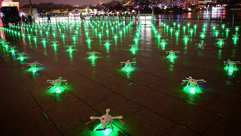 Drone light show in China breaks world record