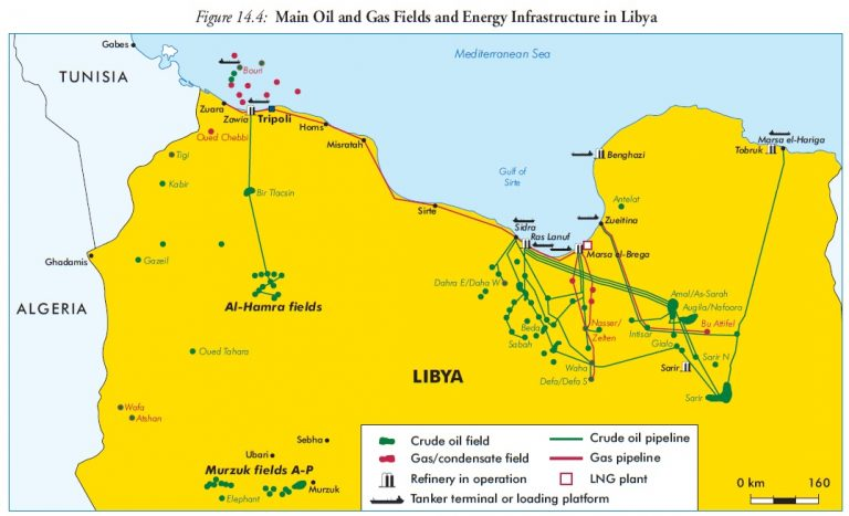 Force majeure state in Libya after the blockade of five oil export ports in the east of the country