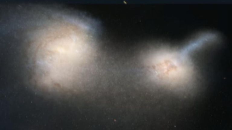 Galaxy pile-up changes ideas about the universe