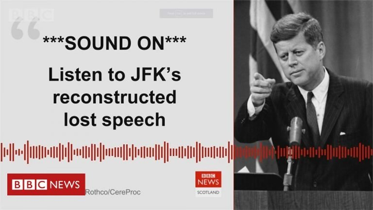 JFK's never-delivered Dallas speech recreated