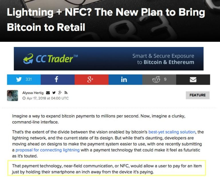 Lightning + NFC? The New Plan to Bring Bitcoin to Retail