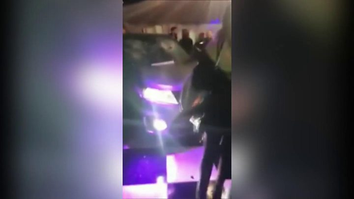Man arrested after car drives into nightclub