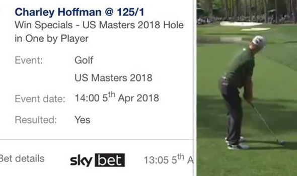 Masters 2018: Charley Hoffman sinks a stunning hole-in-one on the sixteenth hole