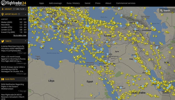 Noting Threat of Missile Strikes, Airlines Clear Skies Over Syria
