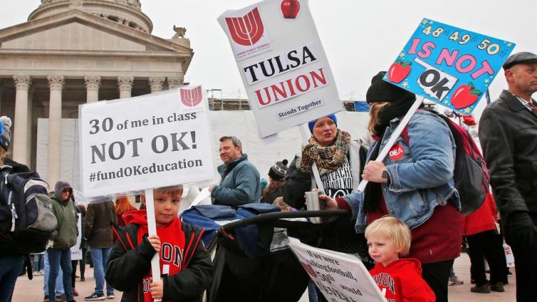 Oklahoma teachers hold second day of walk-out protests