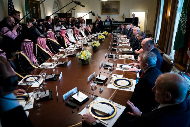 Over 20 People Were at the Table When Trump Met the Saudis. None Were Women.