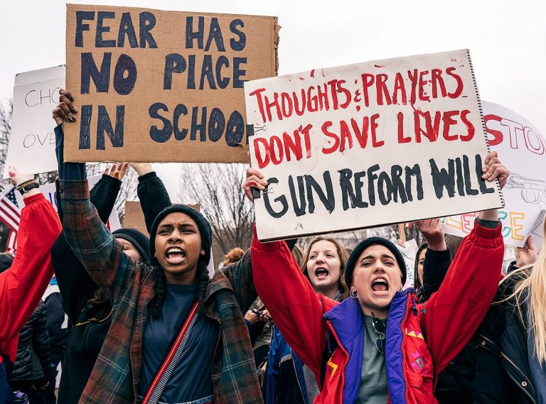 Over 2,000 US schools walk out over gun violence