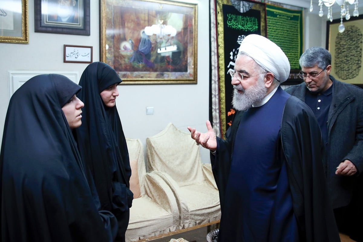 """Rohani promises General Soleimani's family that """"his blood will be avenged"""""""