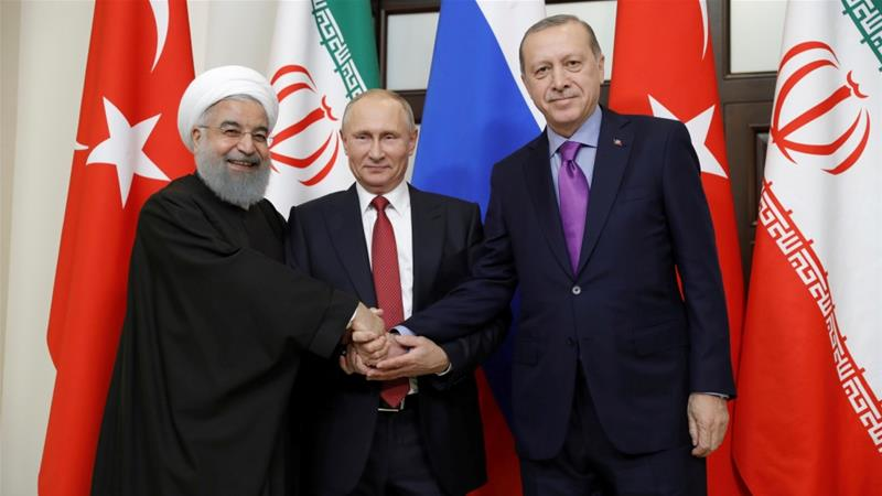 Russia, Turkey and Iran, worried about the presence of terrorist groups in the Syrian province of Idlib