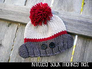 Sock Monkey Hat Knitting Pattern Free