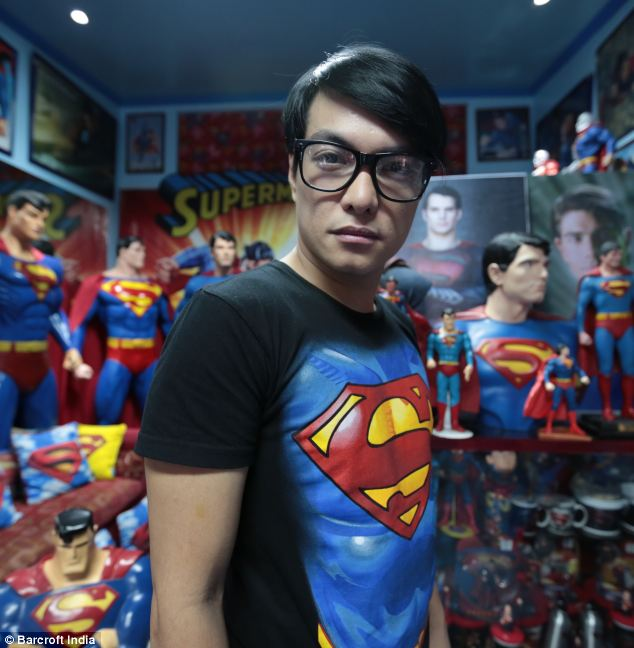 Superman super fan 'obsessed' with buying memorabilia