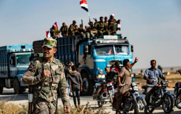 Syrian forces regain control of an important highway in the north in the hands of the Kurds