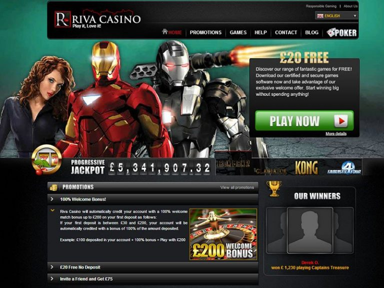 Take advantage of the promotional offers on Casino Riva