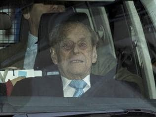 The Duke of Edinburgh leaves the hospital after being discharged