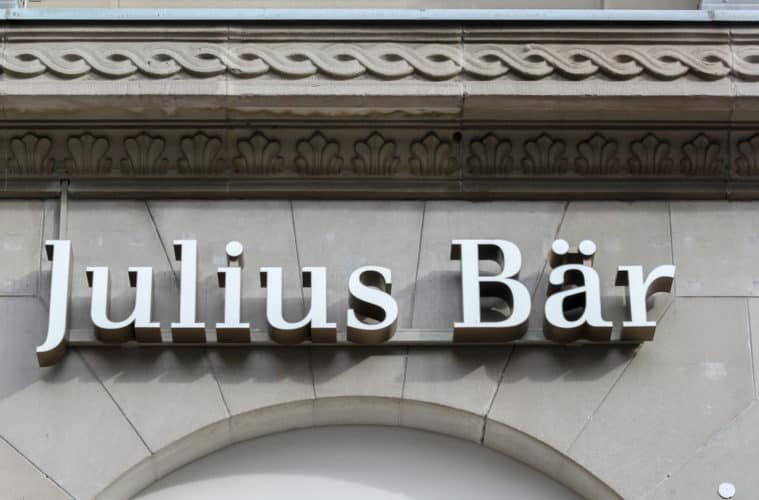 The large Swiss banking firm Julius Baer launches cryptocurrency services