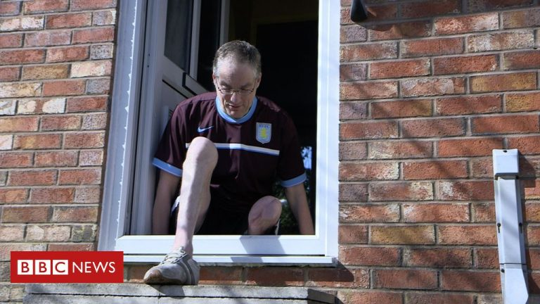 The man who has to crawl through his front door