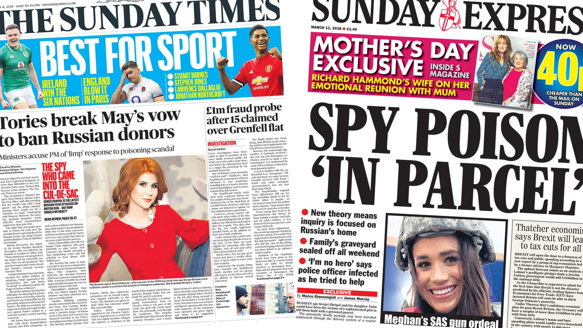 The papers: EU solidarity over Russia and blue passport furore