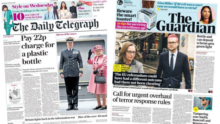 The Papers: Plastics purge and firefighters 'sorry'