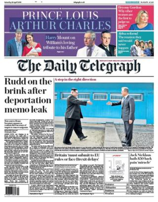 The Papers: Rudd 'on the brink' and Korean 'history'