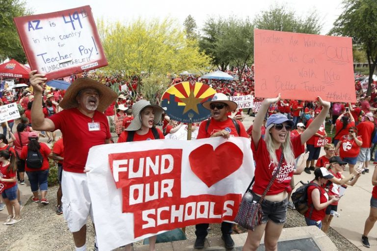 Thousands of teachers in Arizona and Colorado to protest Thursday