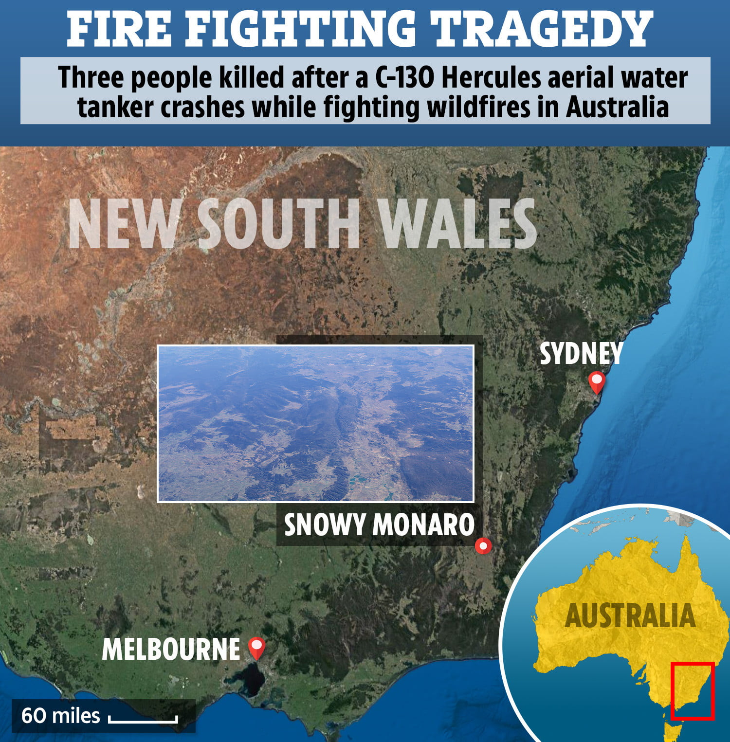 Three firefighters die in Australia after crashing the tanker with which they fought the fires