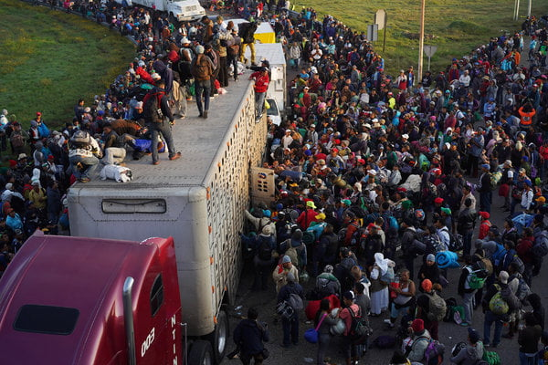 Who are the people behind the migrant caravan?