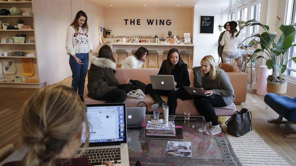 A co-working space only for women
