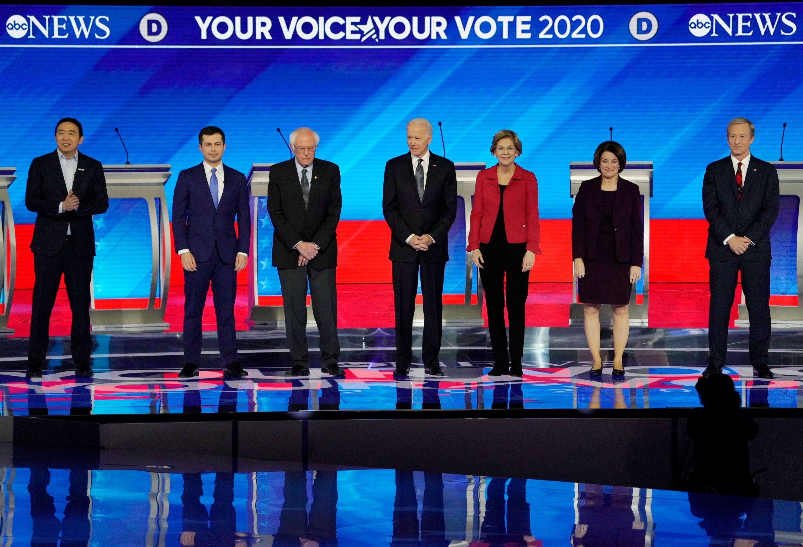 Democratic pre-candidates debate for the first time since the Iowa caucus