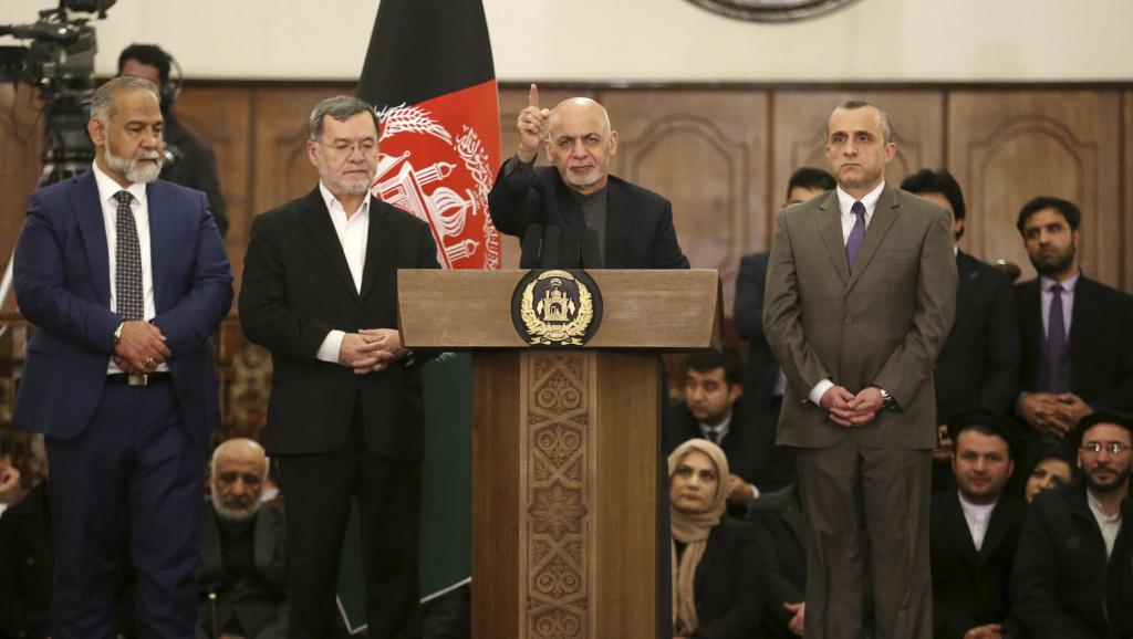 Ghani, re-elected as president of Afghanistan with 50.64% of the vote