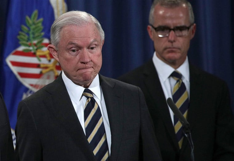 Sessions fires former FBI deputy McCabe before he can retire
