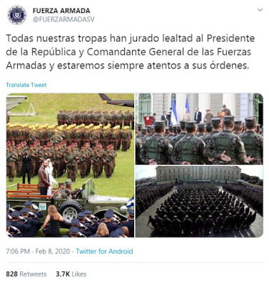 The Constitutional of El Salvador orders Bukele to refrain from using the Army and pressuring the Legislative