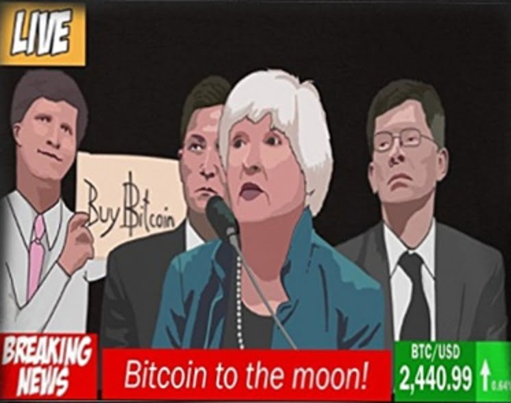 Bitcoin Sign Guy