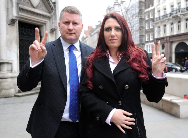 Britain First leader arrested over speeches