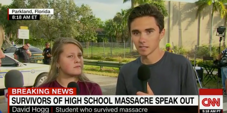Florida shooting: Parents and pupils speak to Trump