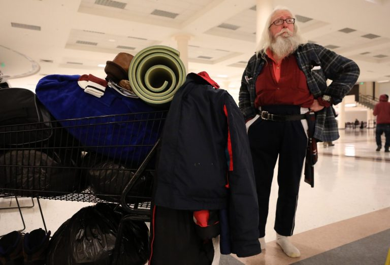 Homeless in the snow: 'I hope I wake up in the morning'