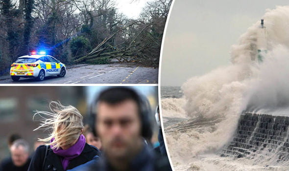 In pictures: Storm Eleanor hits the UK