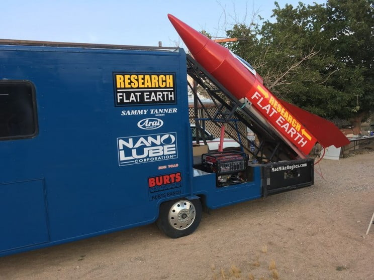 'Mad' Mike's rocket mission to check if Earth is flat